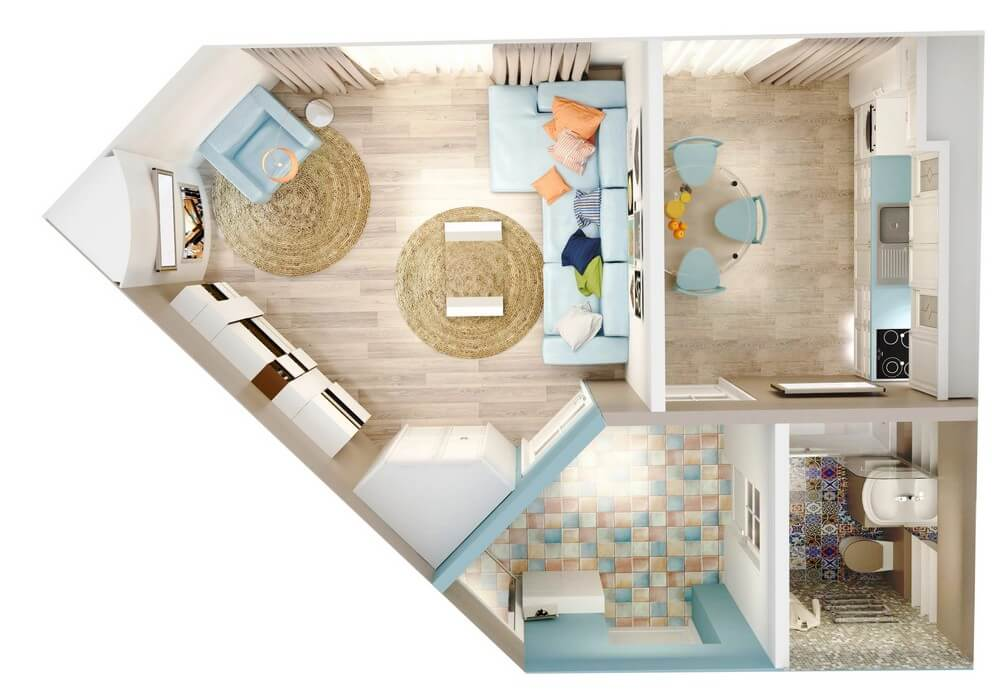 Однокомнатная квартира в г.Дубно