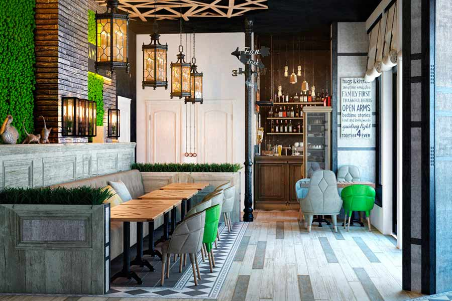Дизайн інтер'єру кафе в Луцьку (фото)