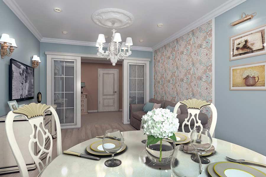 Дизайн інтер'єру столової кімнати в Луцьку (фото)